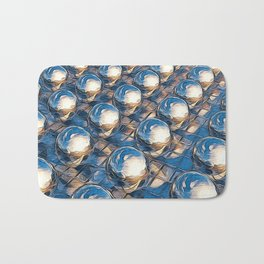 Abstract Spheres In A Row Bath Mat