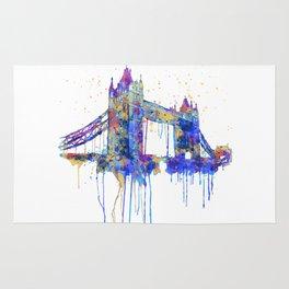 Tower Bridge watercolor Rug