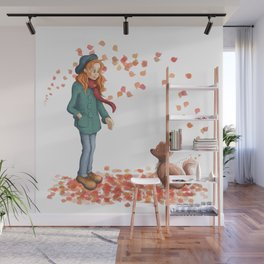 Just a two of us (autumn) Wall Mural
