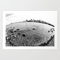 The Earth is round - Vancouver, BC  Art Print