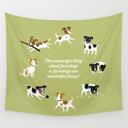 Farmdogs are wonderful things Wall Tapestry
