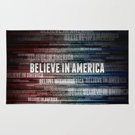 Believe In America Rug