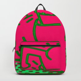 K. Allen Haring Bespoke Popart Legend - Graffiti Art - UNTITLED 1989 RE3 Backpack