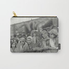 "Black Flappers - 1920s Fashion - ""Spectators"" Carry-All Pouch"