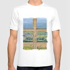 Window To The Luberon MEDIUM White Mens Fitted Tee