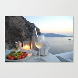 Dinner With a View Canvas Print