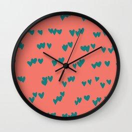 Odd Hearts Wall Clock