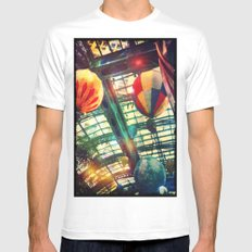 Up Up & Away Mens Fitted Tee MEDIUM White