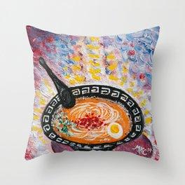 The Ramen Experience - by MylesKatherine Throw Pillow