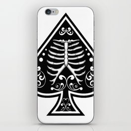 Ace of spades,Ribcage art, custom gift design iPhone Skin