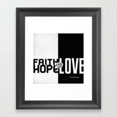 Faith, Hope, Love II Framed Art Print