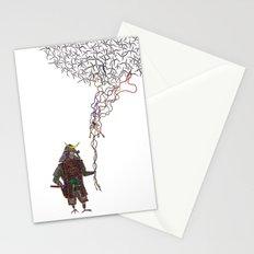 Samurai Bird Play Stationery Cards