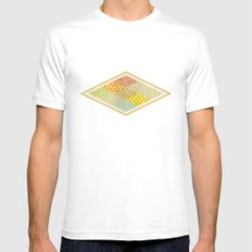 SPONGE CAKE / PATTERN SERIES 001 MEDIUM White Mens Fitted Tee