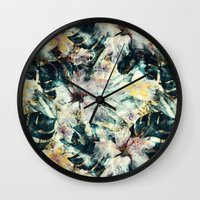 hibiscus Wall Clocks featuring Hibiscus by RIZA PEKER