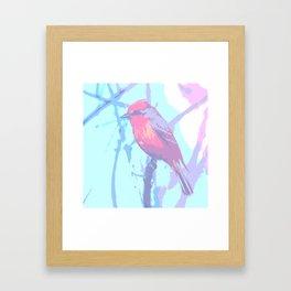 BIRD CARDENAL PASTEL Framed Art Print