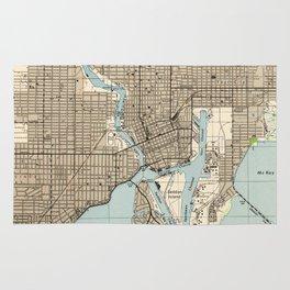 Vintage Map of Tampa Florida (1944) Rug
