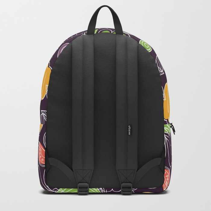 Vegetable Pattern Scandinavian Design Backpack