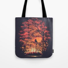 Burning In The Skies Tote Bag