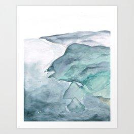 Cliffside Art Print