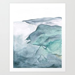 Cliffside Art Print