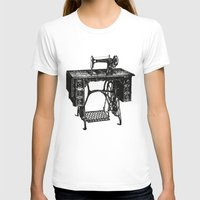sewing T-shirts featuring Singer sewing machine by eARTh