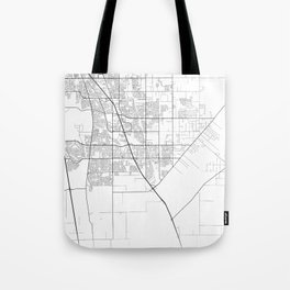 Minimal City Maps - Map Of Elk Grove, California, United States Tote Bag