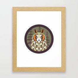 Long-eared Owl Framed Art Print