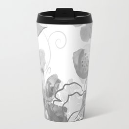 Rosie Outlook - grayscale Travel Mug