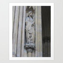 Sainte Geneviève sur Notre Dame de Paris Art Print