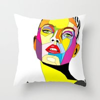 model Throw Pillows featuring Model by Floridana Oana