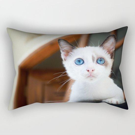 White cat Rectangular Pillow