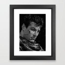 The Black Swordsman Framed Art Print