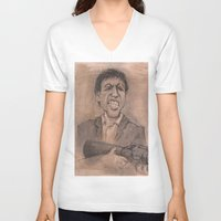montana V-neck T-shirts featuring Montana by chadizms
