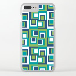 Pantone Greenery Uneven Clear iPhone Case