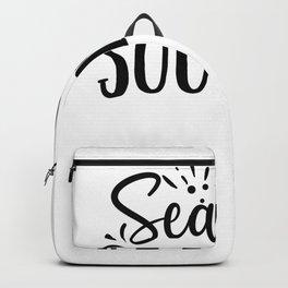 Tote Bag Design Sea You Soon Beach Bag Backpack
