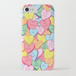 Candy Hearts Multicolour iPhone Case
