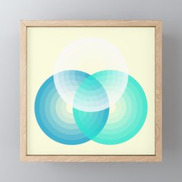Three colour circles inverted, inspired by Lacouture's Répertoire chromatique Framed Mini Art Print