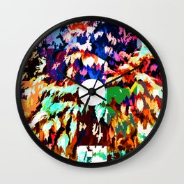 Foliage Patchwork #7 Wall Clock