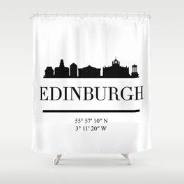 EDINBURGH SCOTLAND BLACK SILHOUETTE SKYLINE ART Shower Curtain