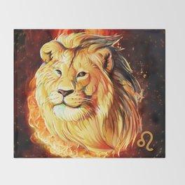 Horoscope Signs-Leo Throw Blanket