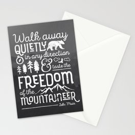 Freedom of the Mountaineer Stationery Cards