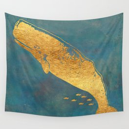 Deep Sea Life Whale Wall Tapestry