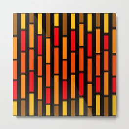 Red Orange and Yellow Metal Print