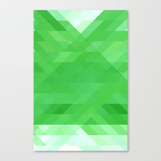 Green Geometrics Canvas Print