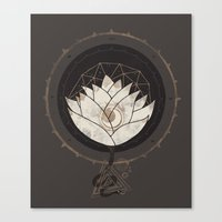 lotus flower Canvas Prints featuring Lotus by Hector Mansilla