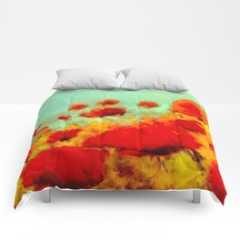 FLOWERS - Poppy time Comforters