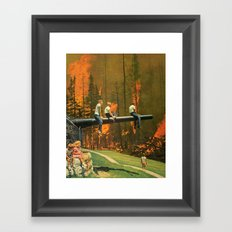 Playing with fire... Framed Art Print