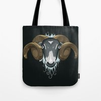 ram Tote Bags featuring Ram by Compassion Collective