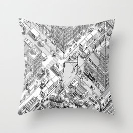 MacPaint project: NYC Throw Pillow