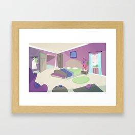 The bedroom Framed Art Print